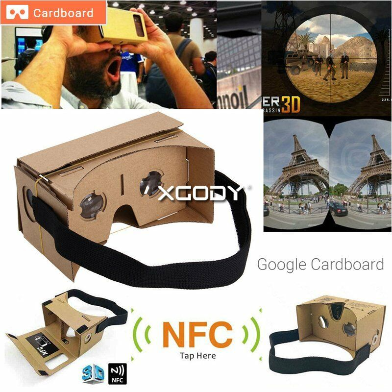 Google Cardboard VR Virtual Reality 3D Glasses For iPhone ...