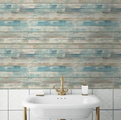Blue Distressed Wood Peel Amp Stick Wallpaper Wall Decal