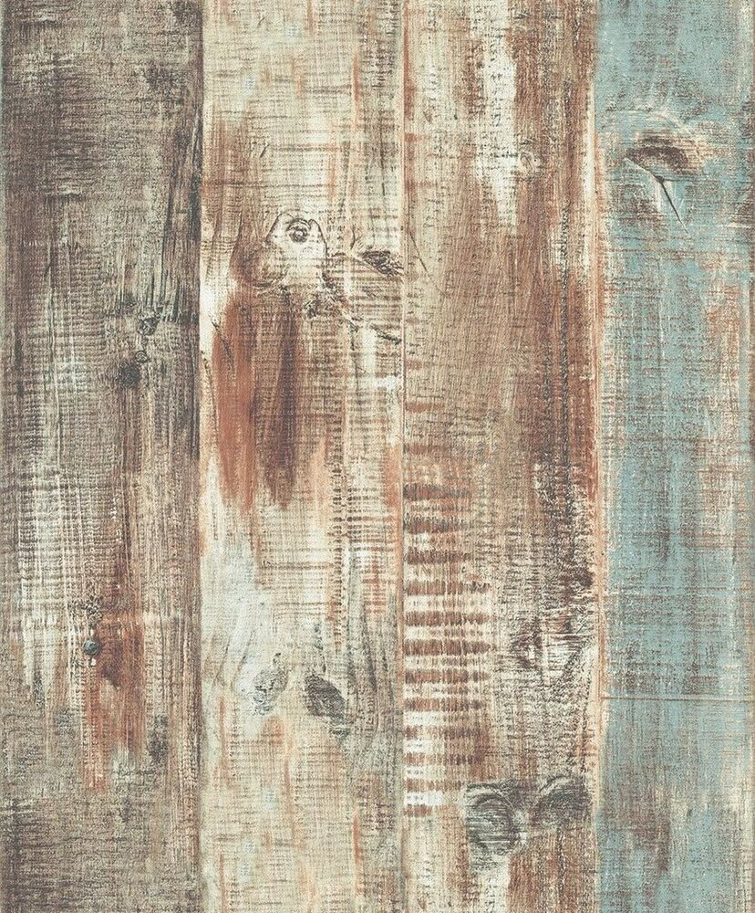 Blooming Wall Vintage Wood Panel Wood Plank Wallpaper