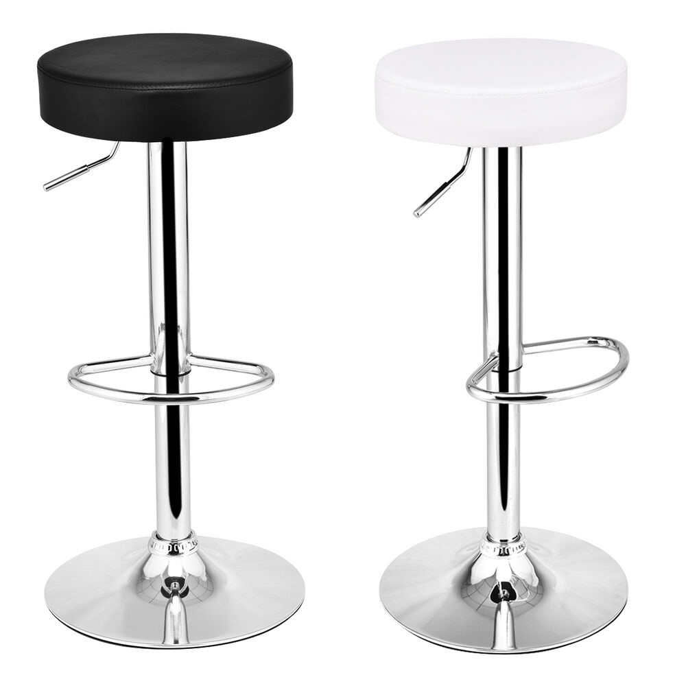1 PC Round Leather Seat Chrome Leg Adjustable Hydraulic  : s l1000 from www.ebay.com size 1000 x 1000 jpeg 52kB