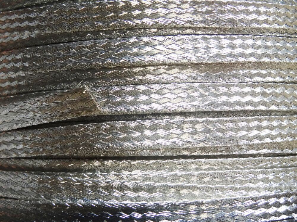 15 Ft Flat Braided Braid Tinned Copper Wire 1 4 Quot Wide
