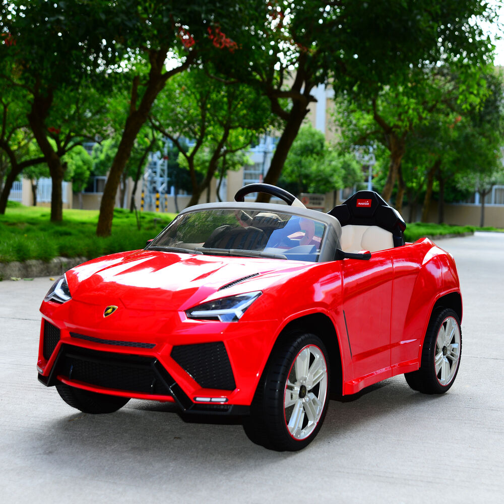 Battery Operated Ride On Toys >> Lamborghini 12V Kids Double Engine Ride On Toy Car ...