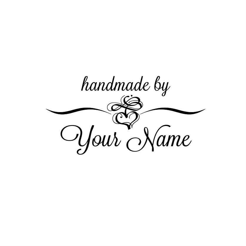 Personalized Custom Name Handmade Rubber Stamps Handle