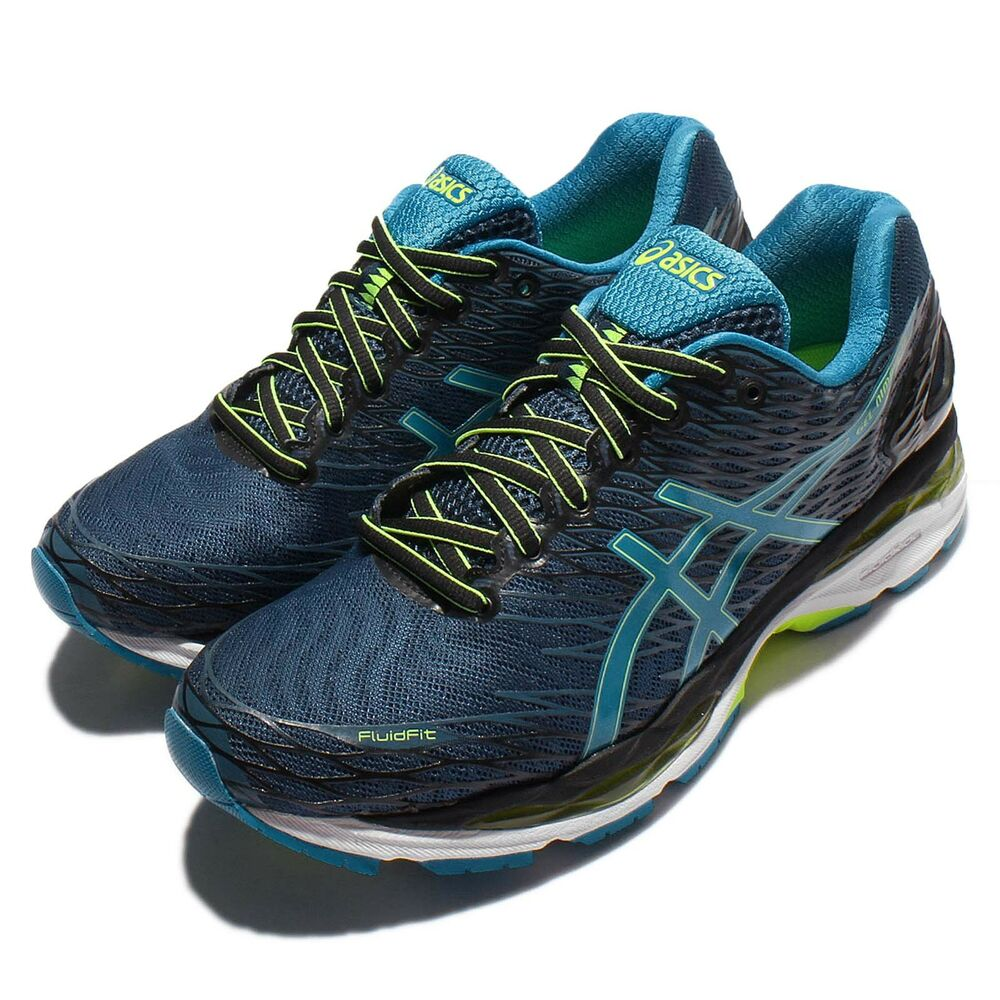 asics gel nimbus 18 navy black blue mens running shoes sneakers t600n 5843 ebay. Black Bedroom Furniture Sets. Home Design Ideas