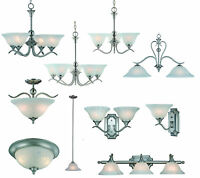 Satin Nickel Bathroom Vanity, Ceiling Lights & Chandelier Lighting Fixtures