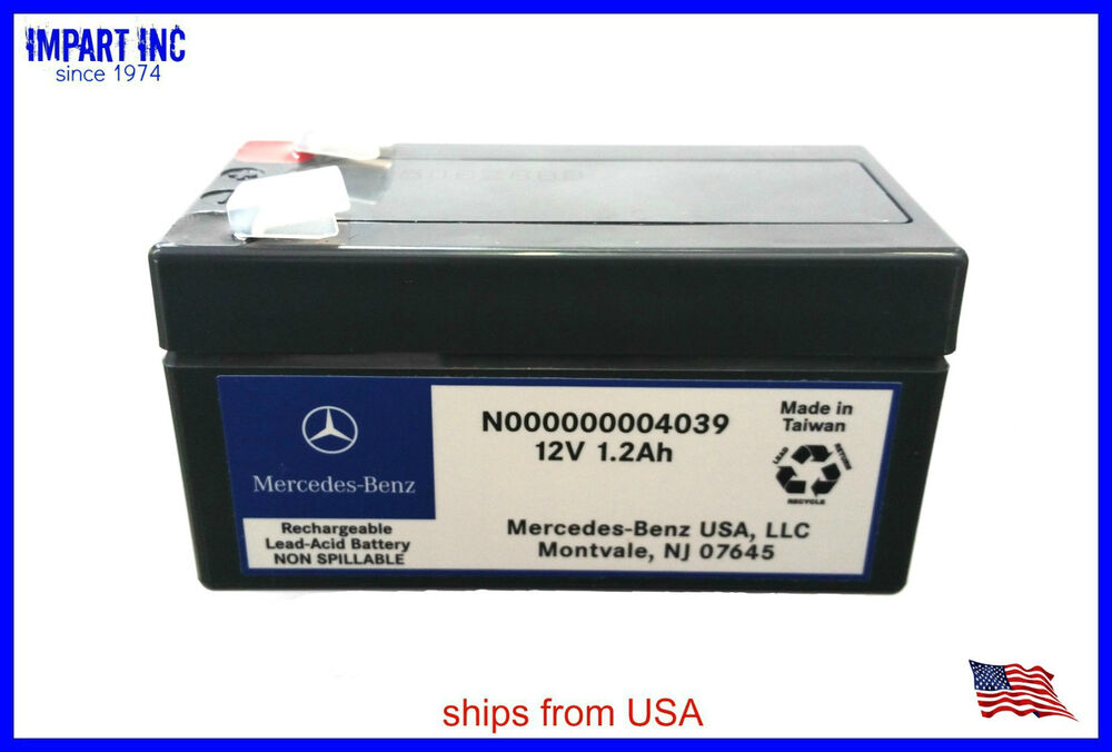 Mercedes Replacement Parts >> NEW Genuine OEM Mercedes Auxiliary Battery 12V 1.2Ah N000000004039 | eBay