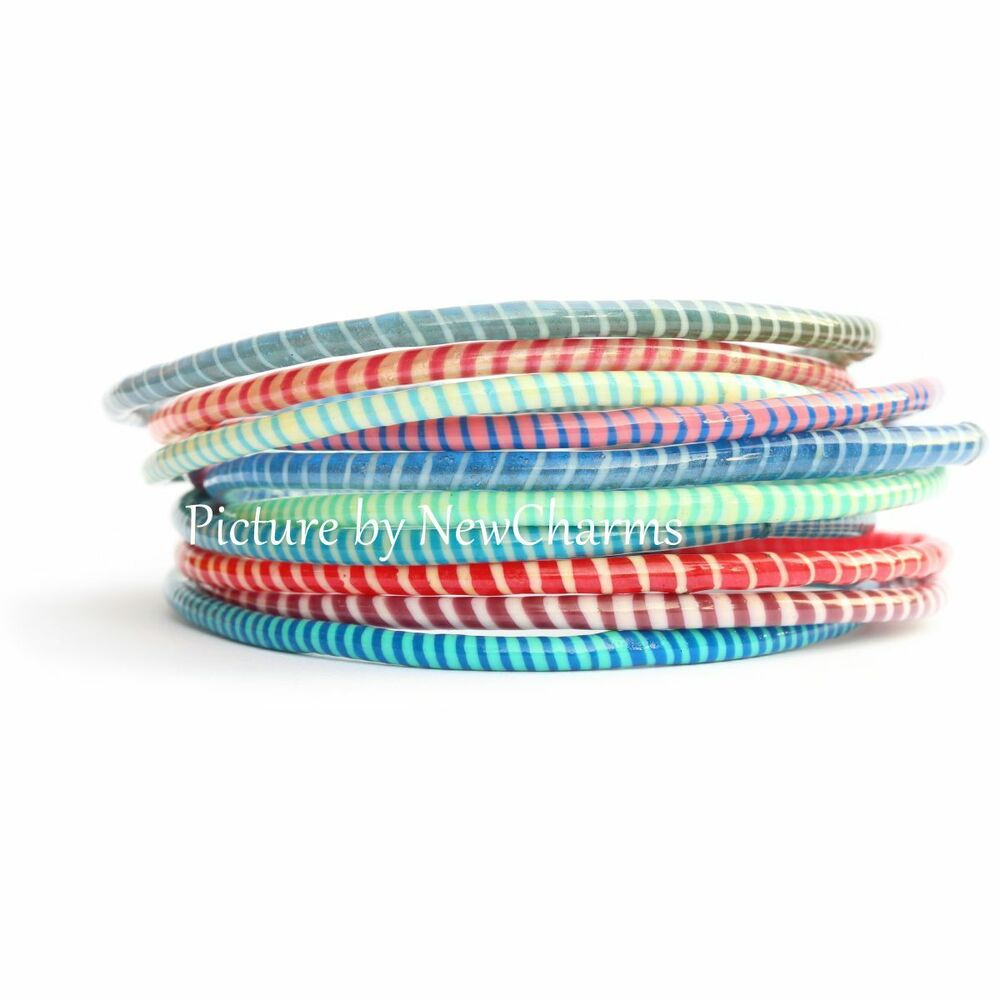 10 Recycled Flip Flop Bracelets Hand Made in Mali West Africa Fair Trade Sourced | eBay