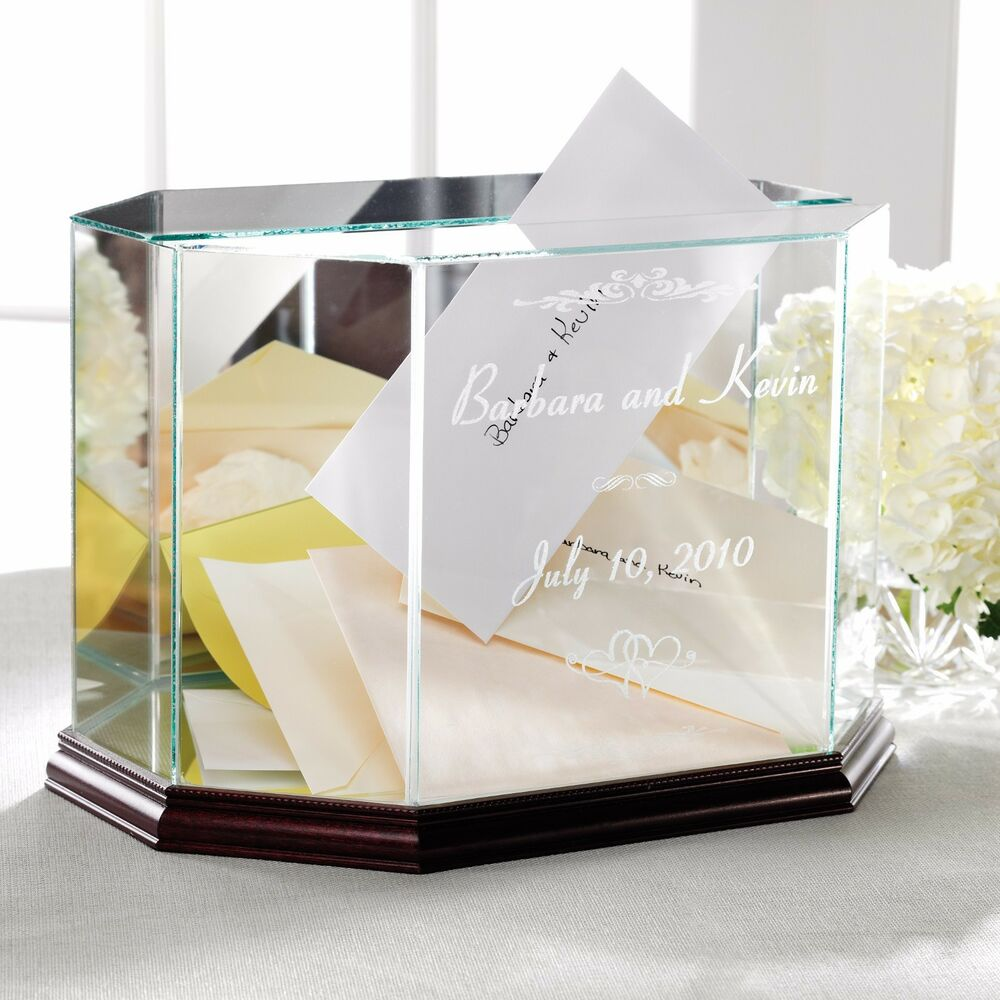 Wedding Boxes For Gifts: Wedding Card Box Wedding Money Box Personalized Glass
