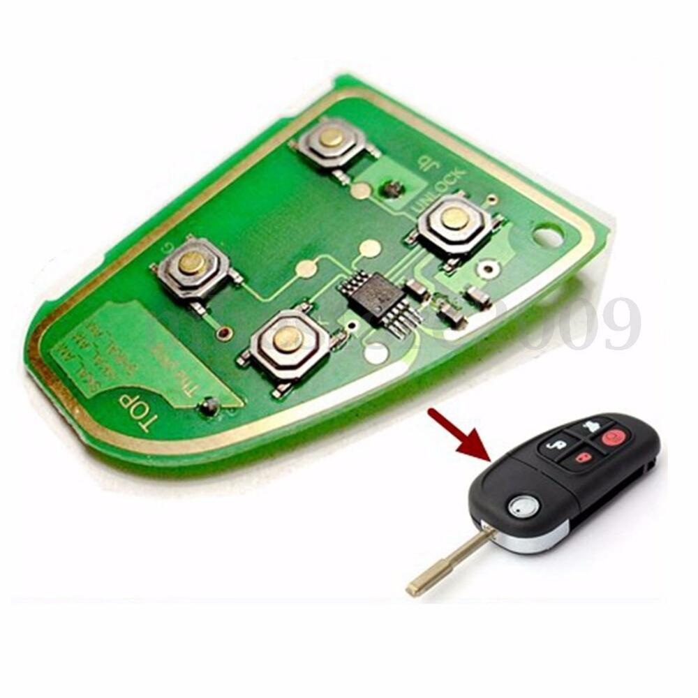 4 button remote key fob circuit board 433 mhz for jaguar x ... key fob schematic