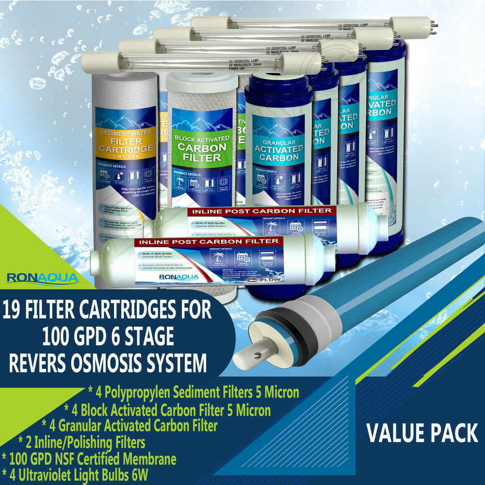 Replacement Water Filter For 6 Stage Uv Reverse Osmosis