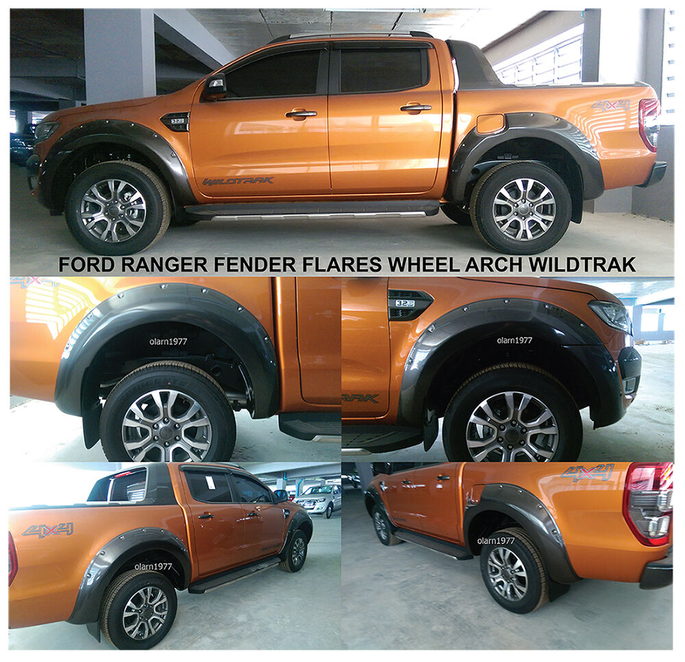 4 doors fender flares wheel arch for ford ranger wildtrak. Black Bedroom Furniture Sets. Home Design Ideas