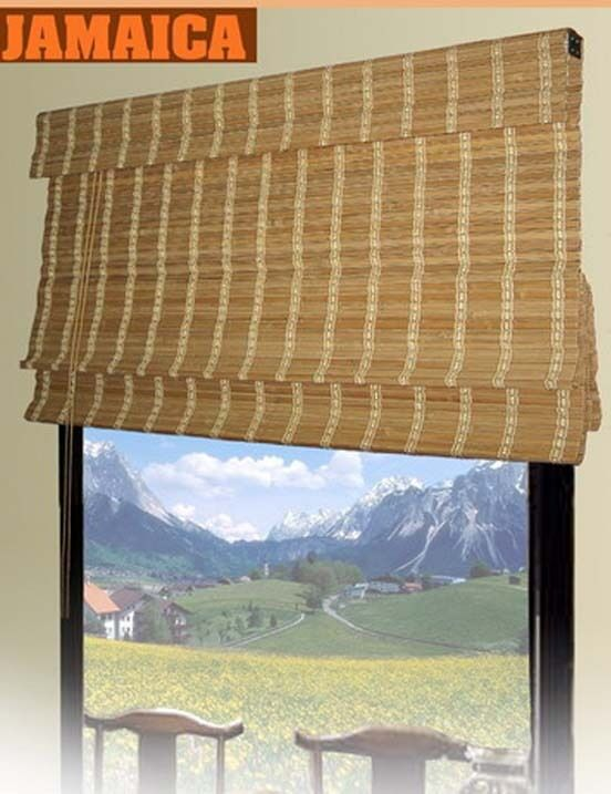 Bamboo roman shade window blinds 2 sizes available ebay for 2 way window blinds