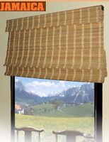 Bamboo Roman Shade Window Blinds. 2 Sizes Available.