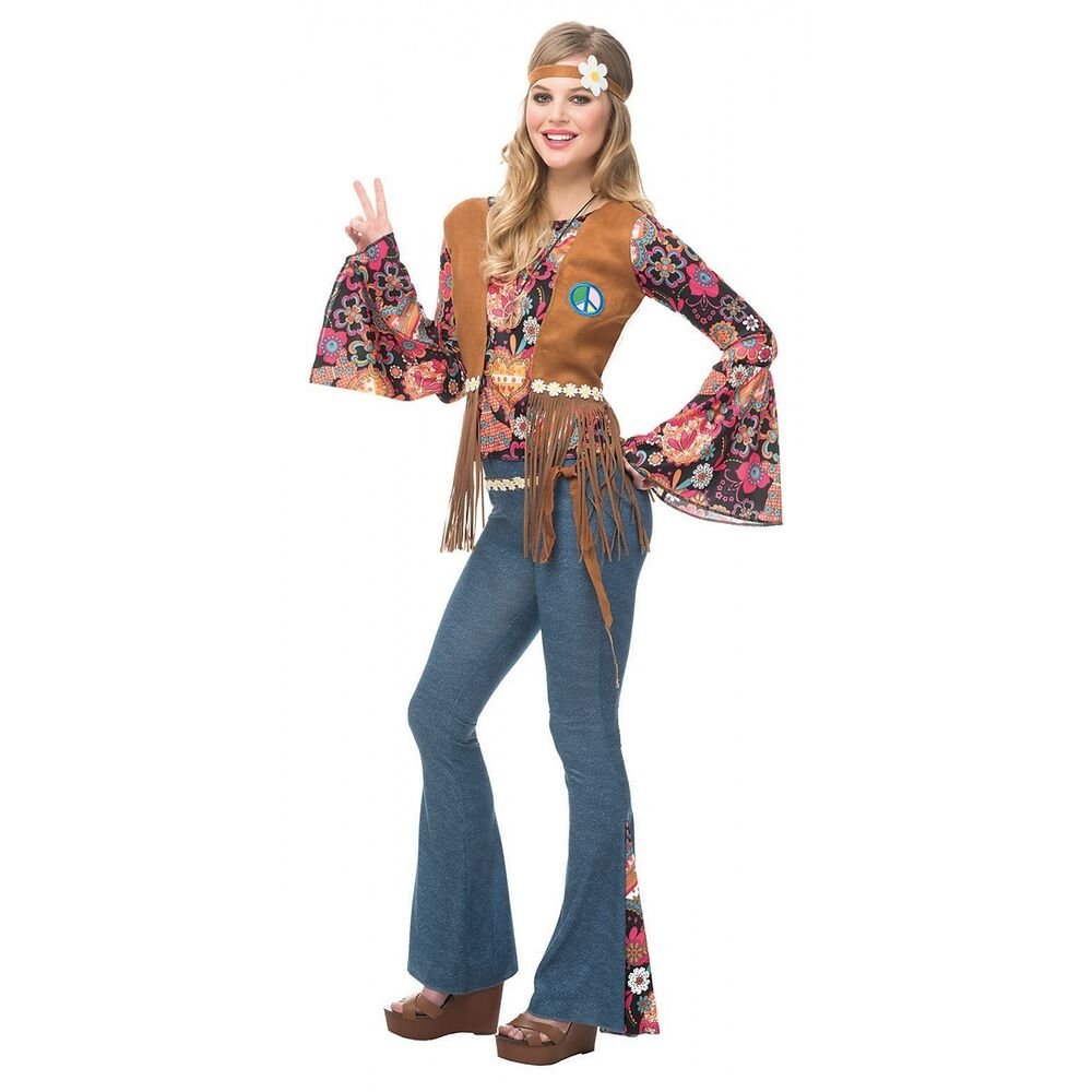 Hippie Costume 60s 70s Girl Halloween Fancy Dress | eBay