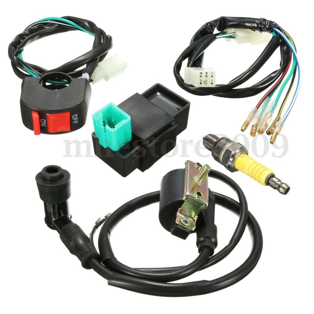 90cc Atv Wiring Trusted Diagrams Chinese Diagram Loom Kill Switch Coil Cdi Spark Plug Kit For 110cc Sunl