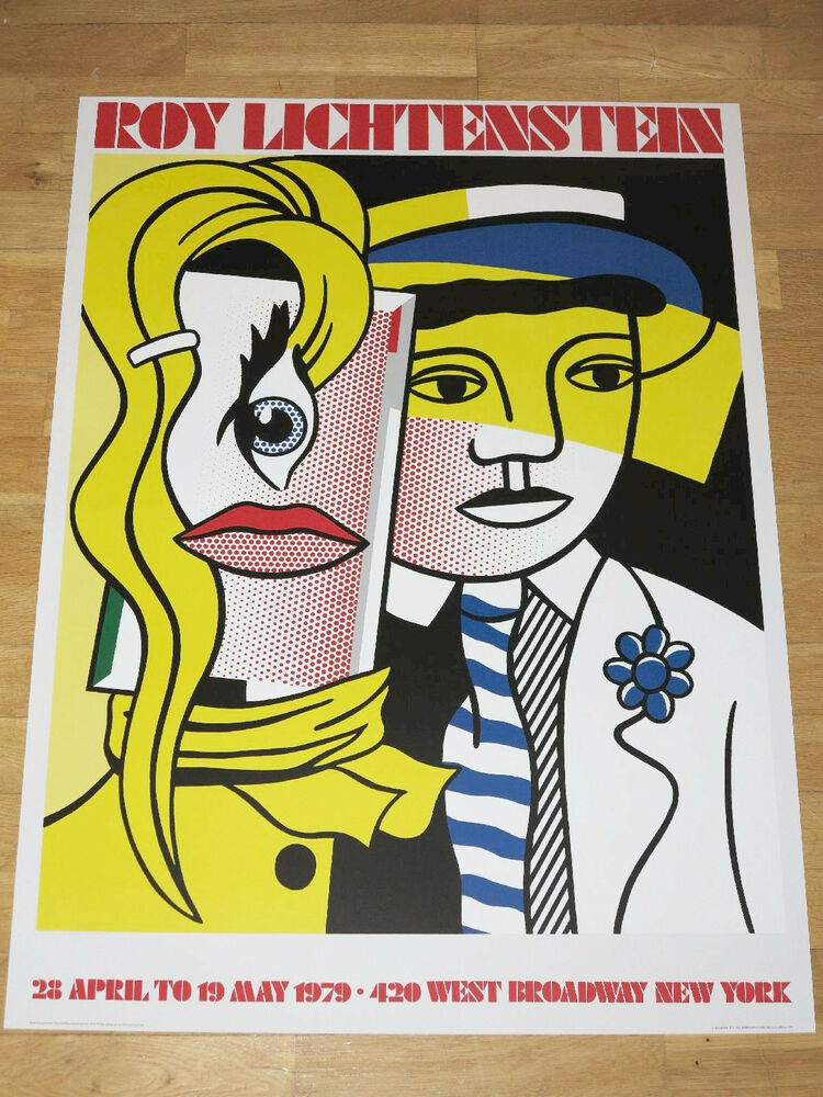 Roy lichtenstein poster stepping out exhibition pop for Poster roy lichtenstein