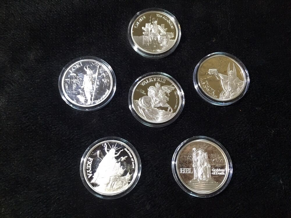5 Oz Valkyrie Norse Gods Series Viking Complete Set 1 5 Ebay