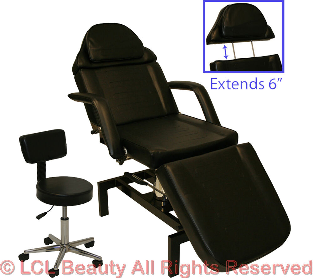 Hydraulic adjustable facial table bed chair tattoo beauty for Table bed chair
