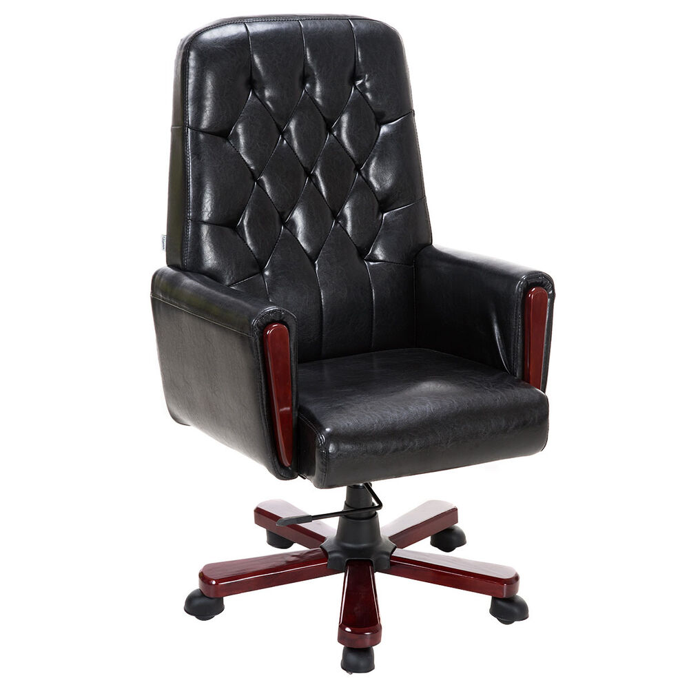 Modern High Back Pu Leather Deluxe Guest Office Accent
