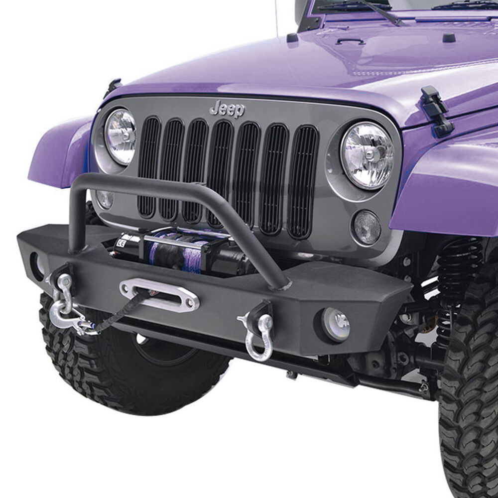 JK Front Bumper With OE Fog Light Holes & Winch Plate For