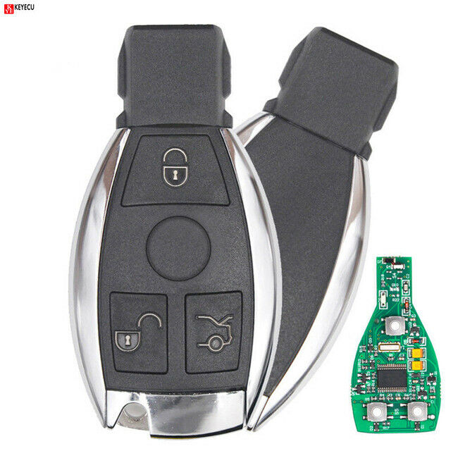 Keyless entry smart remote key 3 button 433mhz nec chip for Mercedes benz remote