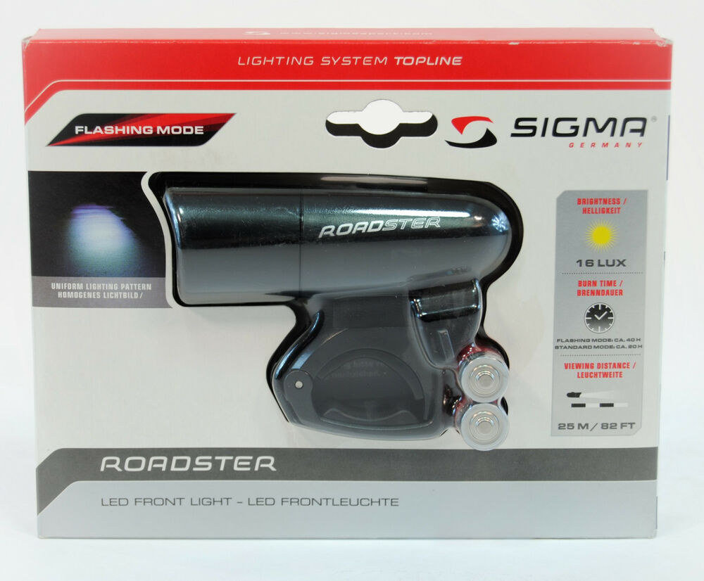 sigma sport roadster led bicycle front light ebay. Black Bedroom Furniture Sets. Home Design Ideas