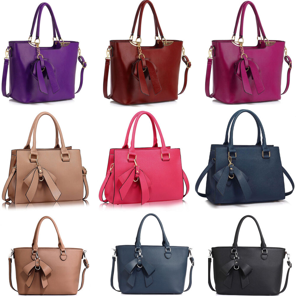 0e7ee5ba809b Details about LeahWard Women s Designer Bow Bags Large School Bag Tote  Handbags A4 Ladies 374