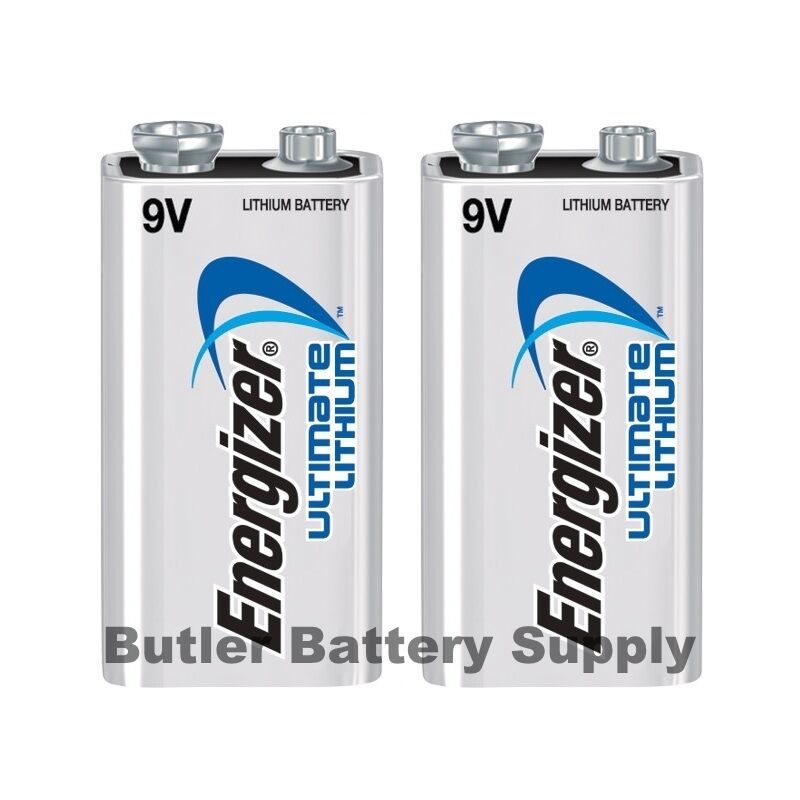 2 energizer ultimate lithium 9v 9 volt batteries l522. Black Bedroom Furniture Sets. Home Design Ideas