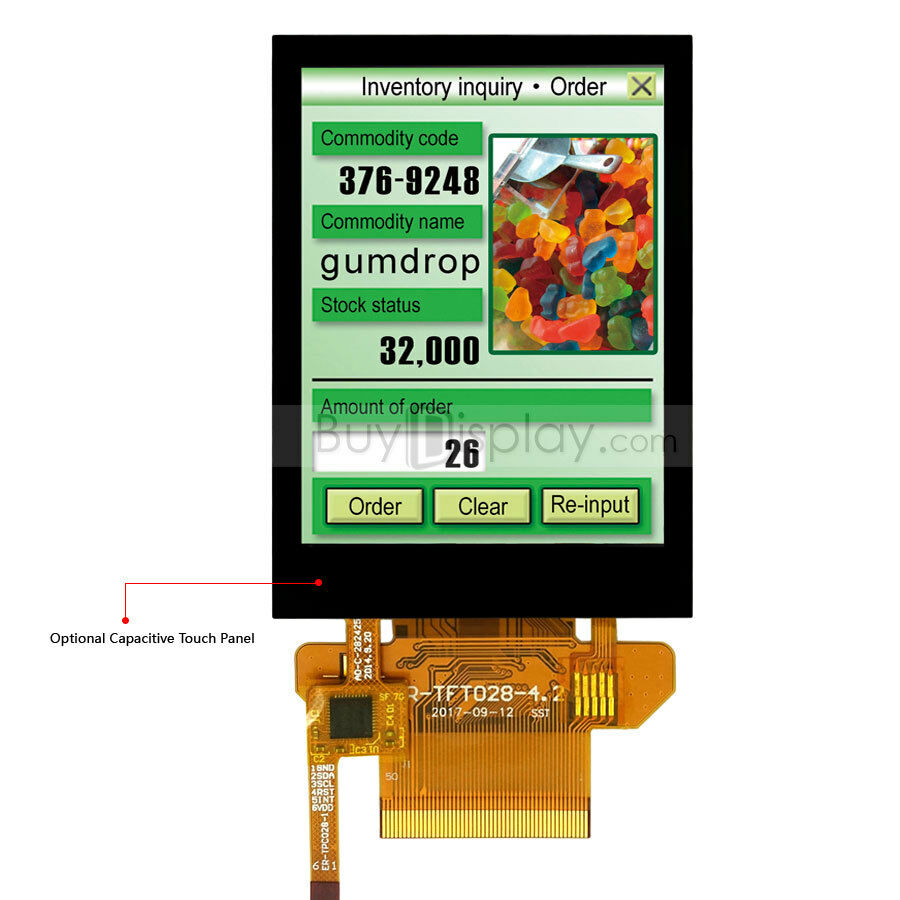 Serial Spi 2 8 U0026quot  Inch Tft Lcd Module 320x240 Capacitive Touch Panel W  Tutorial