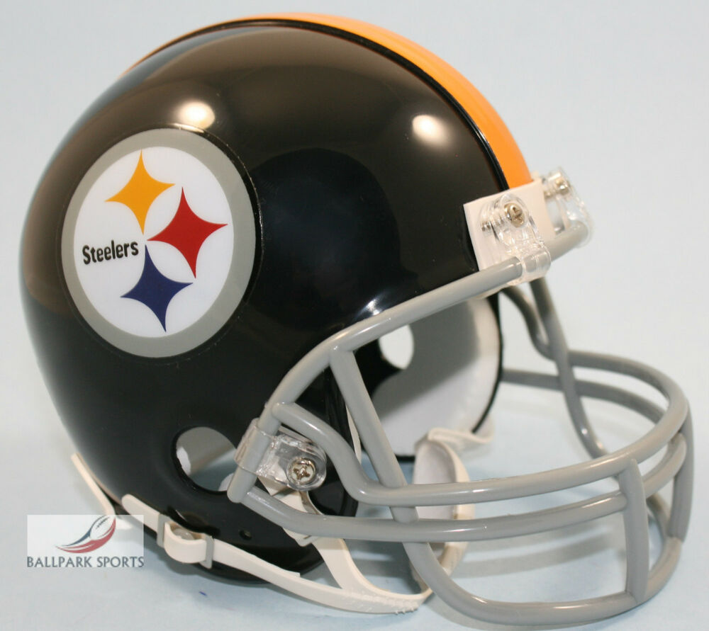 Pittsburgh Steelers   Throwback Riddell Vsr Mini Helmet