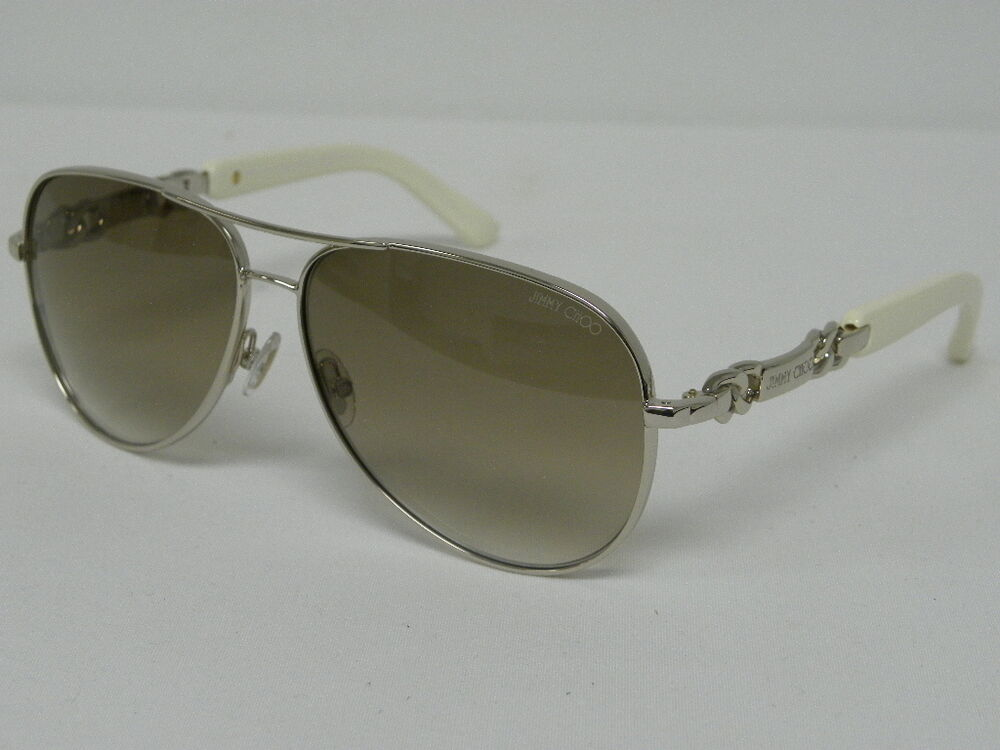 f449fe664556 Details about Jimmy Choo Reese S 3YG XY Light Gold Brown Aviator MSRP  400  Sunglasses