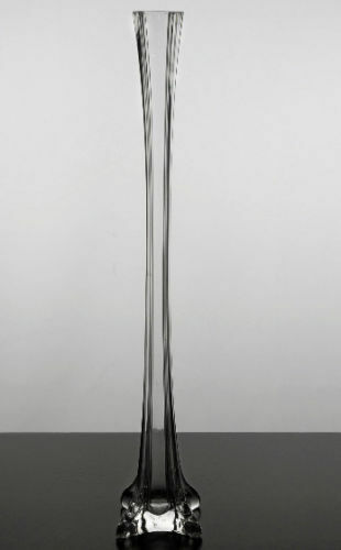 Clear glass tower vase eiffel vases quot tall