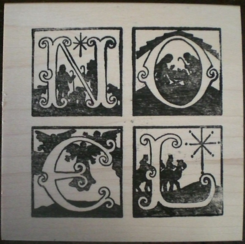 Mounted Rubber Stamps, Holiday, Christmas, Nativity Noel ...