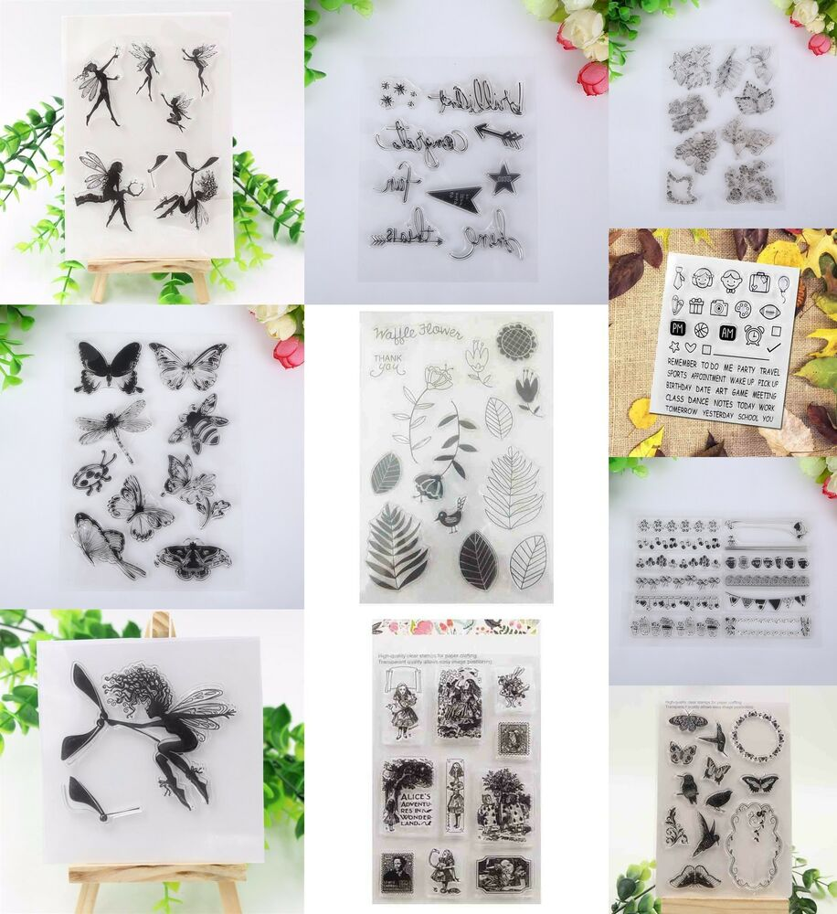 engel silikonstempel stempel clear stamp scrapbooking diy basteln briefmarken x ebay. Black Bedroom Furniture Sets. Home Design Ideas