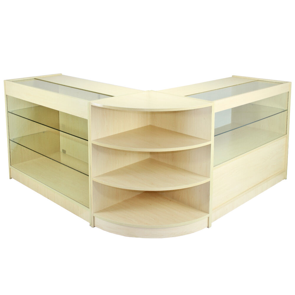 Retail Counter Maple Shop Display Storage Cabinets