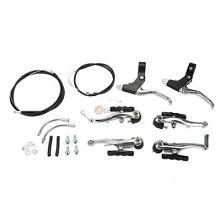 Brake Levers + Front Rear V Brakes Cables Caliper Set For Mountain Bike Bicycle