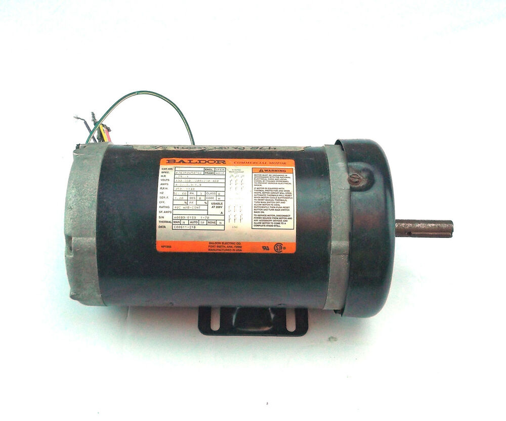 Used baldor 17e350w507g2 75 hp 1 hp electric motor 350 for One horsepower electric motor