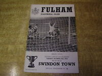 1970/71 LEAGUE CUP 4TH ROUND - FULHAM v SWINDON TOWN