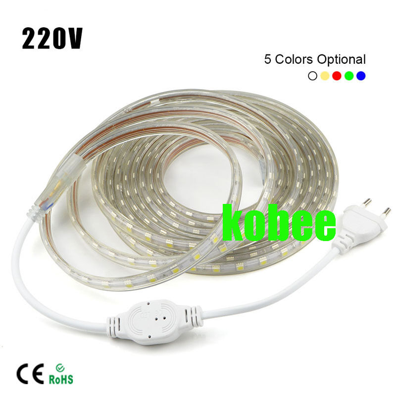 Outdoor 5050 Tape Light: 1-20m 5050 LED Flexible Tape Rope Strip Light Xmas Outdoor