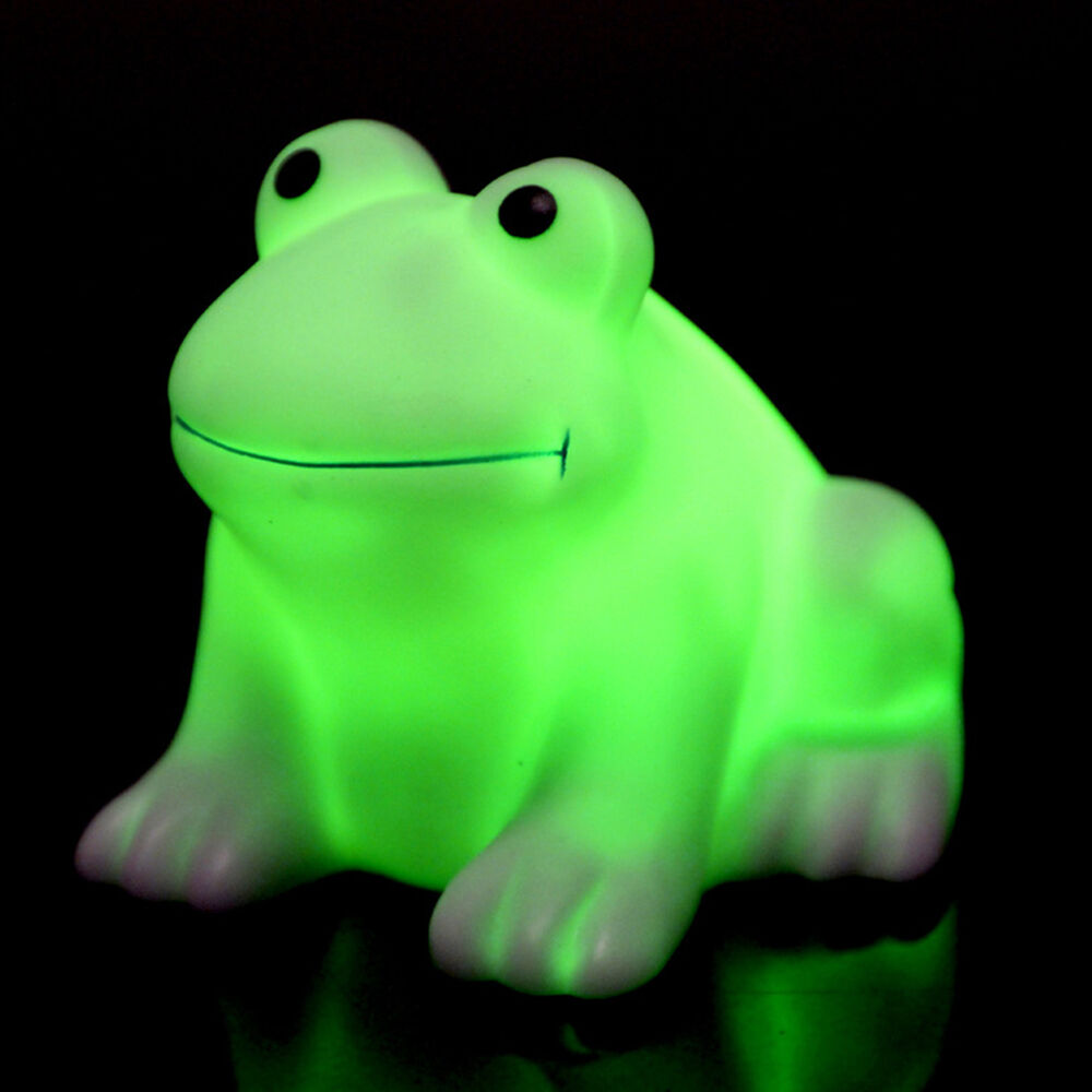 Colorful Changing Led Night Lights Lamp Frog Shaped