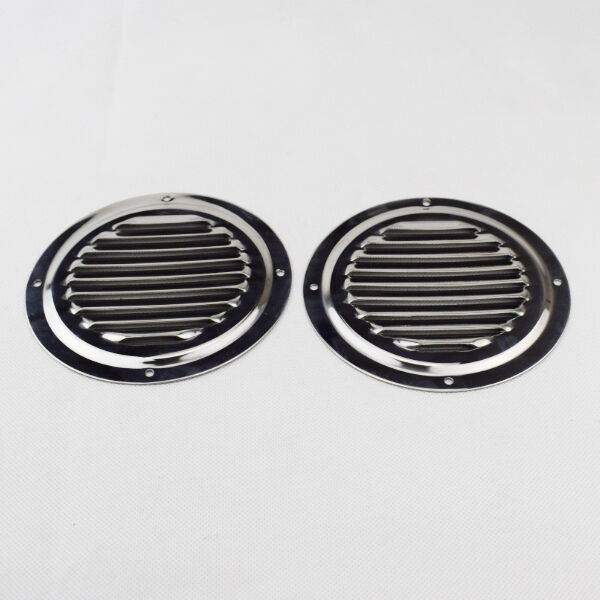 Stainless Steel Air Grille : Pcs round louvre air vent polished stainless steel