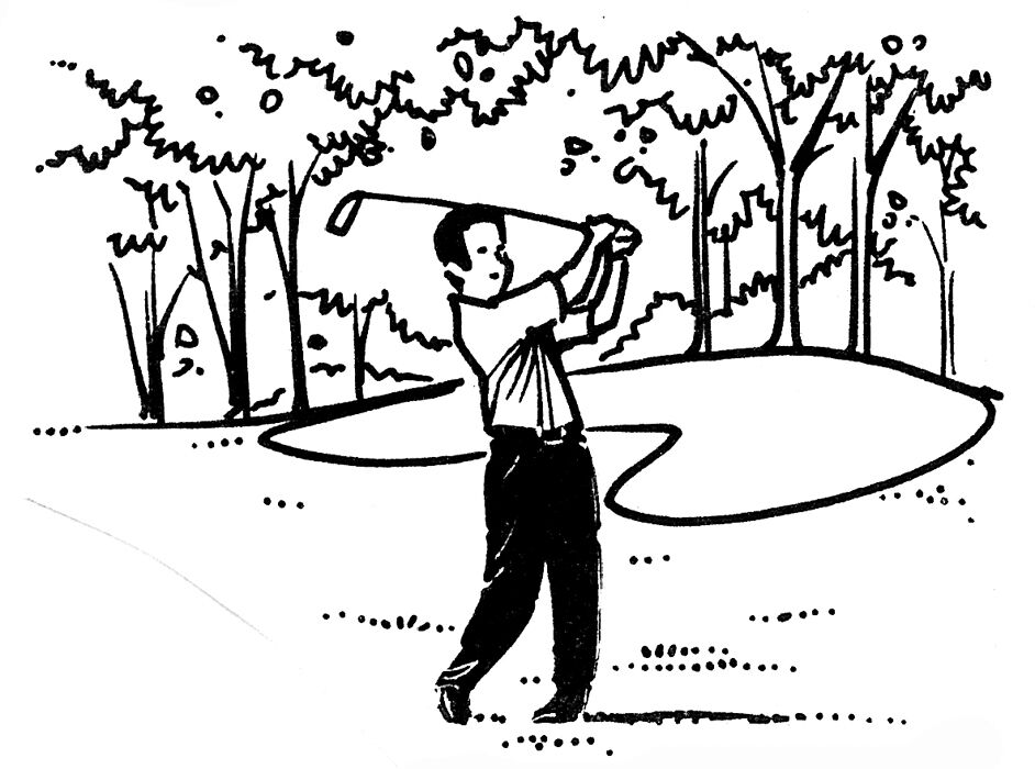 Wood mounted rubber stamps sports stamps golfer scenic for Four man rubber life craft