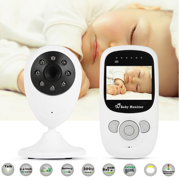 2 4 audio video baby monitor wireless digital camera night vision safety viewer ebay. Black Bedroom Furniture Sets. Home Design Ideas