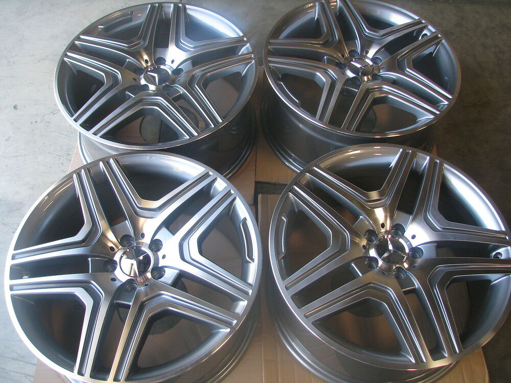 22 mercedes wheels ml 350 ml300 ml63 amg 5x112 rims gl350 for Mercedes benz rims for sale