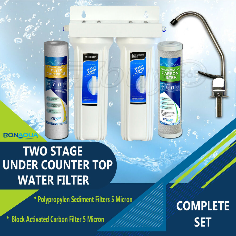 Under Sink Two Stage Water Filter System Ebay