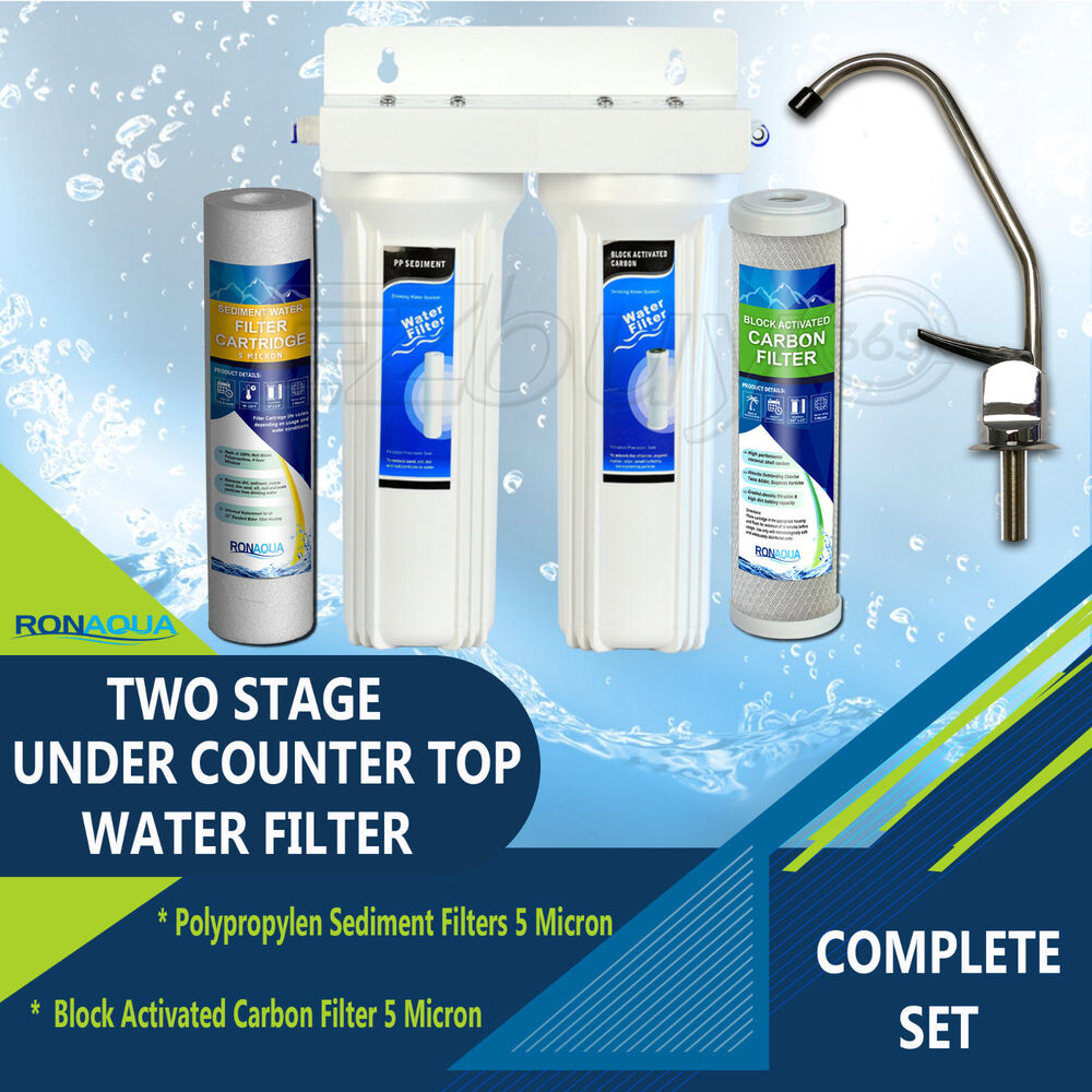 Under Sink Two Stage Water Filter System 780347035810 Ebay