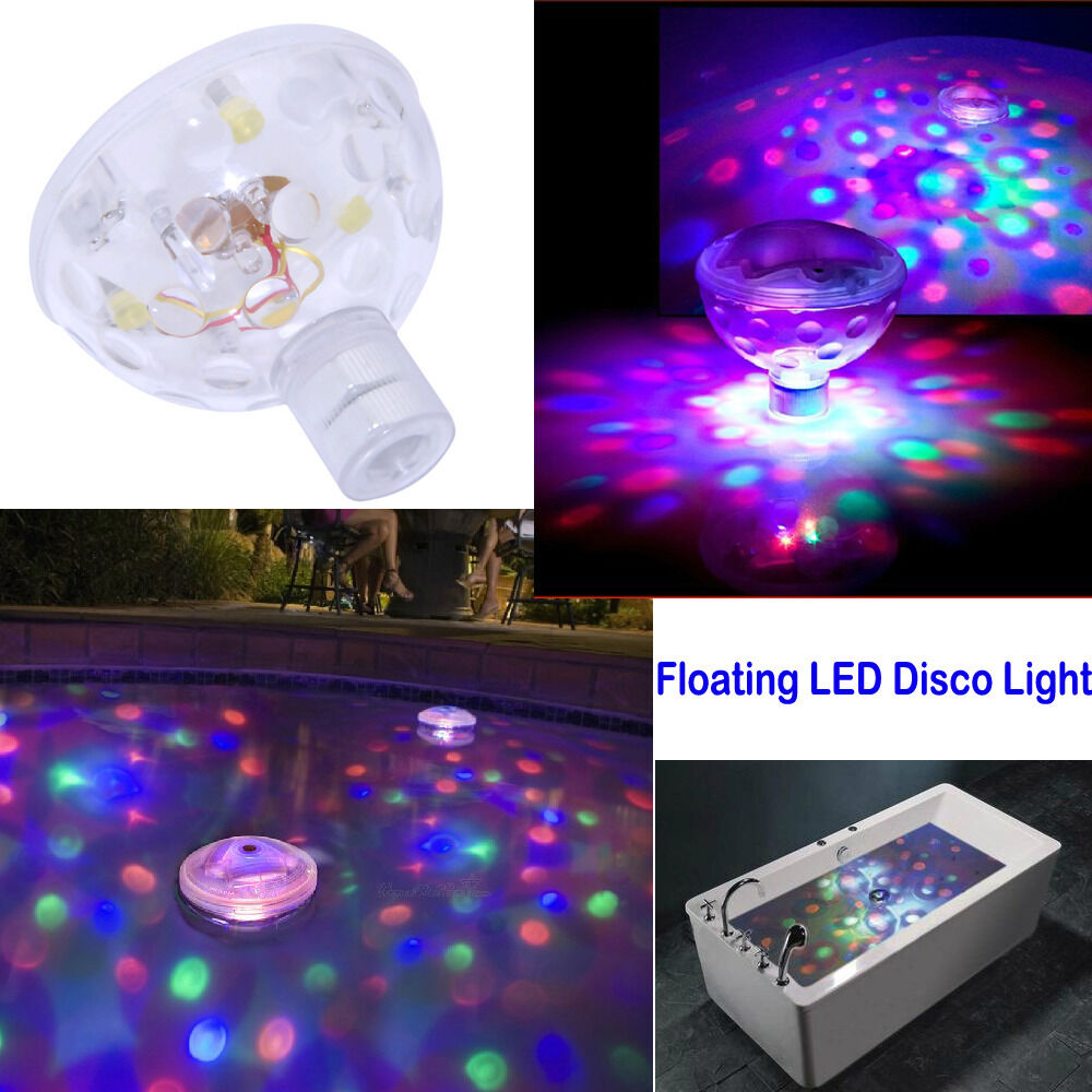 Underwater Led Glow Light Show Floating Disco Ball For Pool Spa Pond Free Ship Ebay