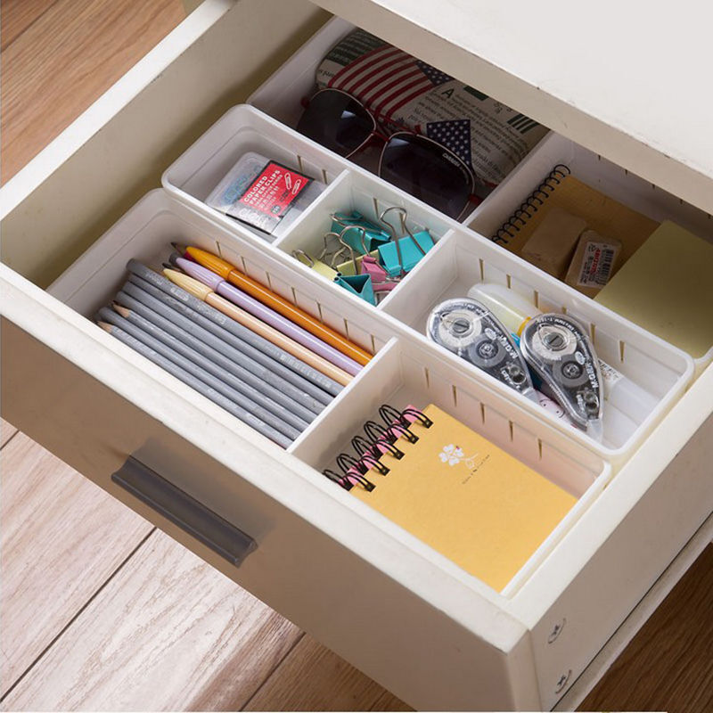 Case Makeup Plastic Storage Box Cosmetic Organizer Desk