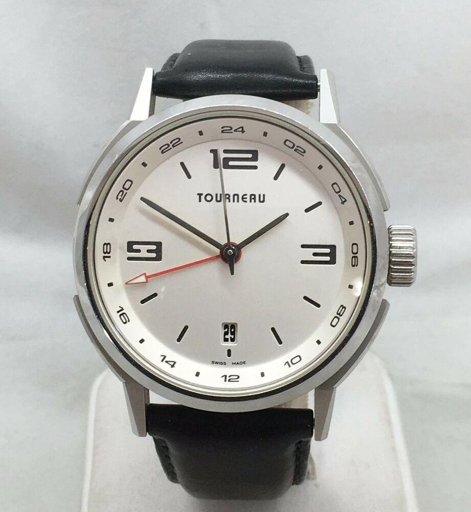 tourneau tny series 40gmt automatic men s leather