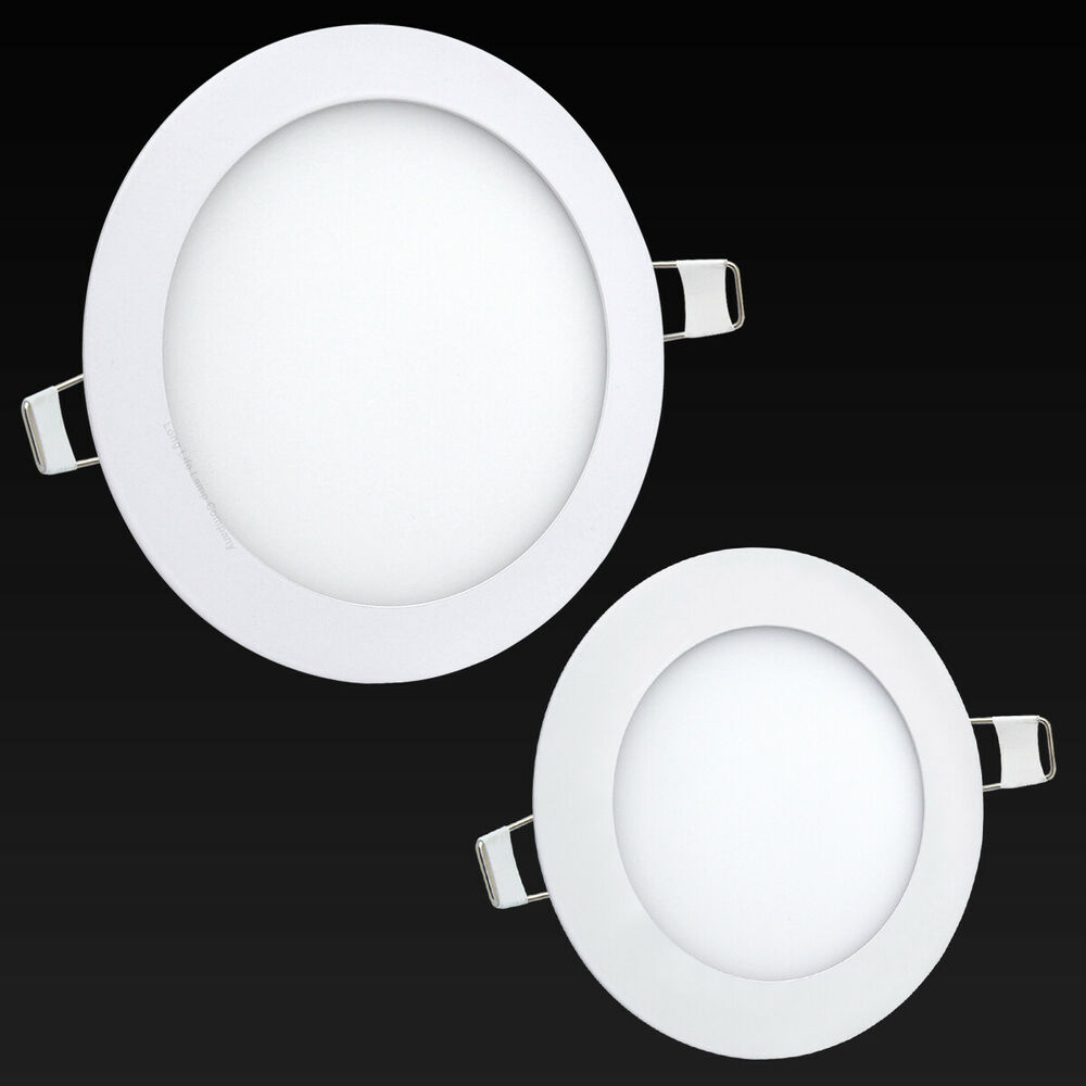 6w 12w 18w 24w Led Recessed Ceiling Flat Panel Down Light: 6W Or 12W LED Round Recessed Ceiling Flat Panel Down Light
